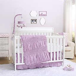 The Peanutshell™ Lilac Kisses 3-Piece Crib Bedding Set
