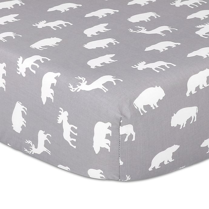 Alternate image 1 for The Peanutshell™ Woodland Trails Fitted Crib Sheet