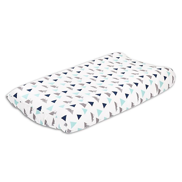 Alternate image 1 for The Peanutshell™ Woodland Trails Changing Pad Cover in Blue/Green