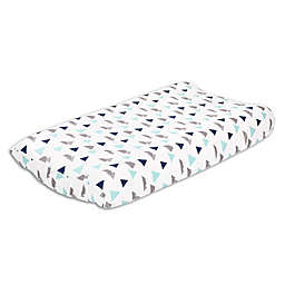 The Peanutshell™ Woodland Trails Changing Pad Cover in Blue/Green