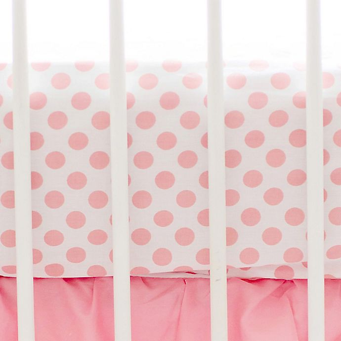 Alternate image 1 for My Baby Sam Polka Dot Fitted Crib Sheet in Coral