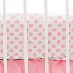My Baby Sam Polka Dot Fitted Crib Sheet in Coral