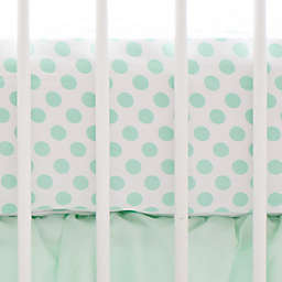 My Baby Sam Polka Dot Fitted Crib Sheet in Mint