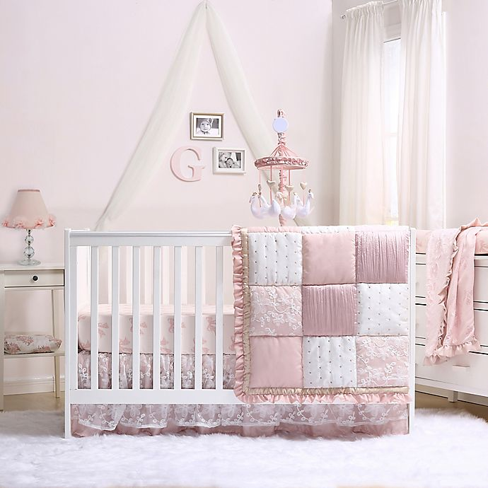 Alternate image 1 for The Peanutshell™ Grace 4-Piece Crib Bedding Set