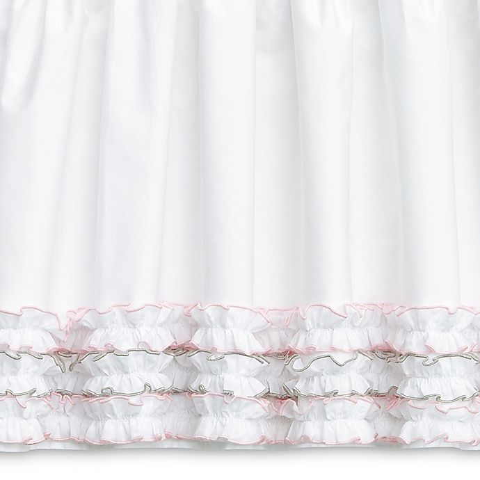 Alternate image 1 for Wendy Bellissimo™ Mix & Match Savannah Crib Skirt in White