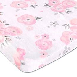Wendy Bellissimo™ Mix & Match Savannah Watercolor Floral Changing Pad Cover in Pink