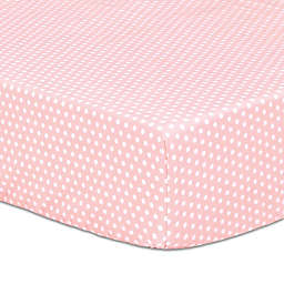 The Peanutshell™ Dot Fitted Crib Sheet in Light Coral