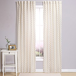 The Peanutshell™ Lattice 84-Inch Blackout Window Panels in Gold (Set of 2)