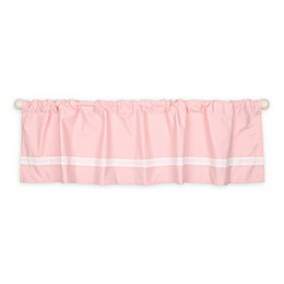 The Peanutshell™ 14-Inch Window Valance in Light Coral