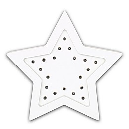 The Peanutshell™ Star Marquee Wall Light in White