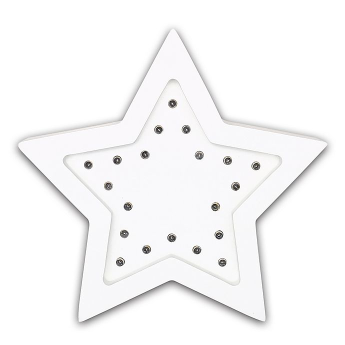 The Peanut Shell Star Marquee Wall Light In White Buybuy Baby