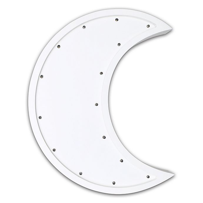 The Peanut Shell Moon Marquee Wall Light In White Bed Bath Beyond