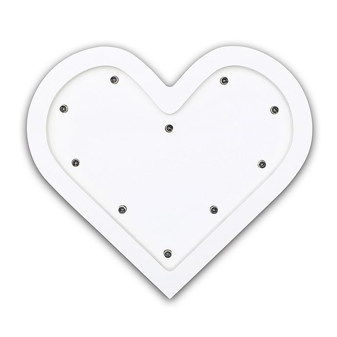 Alternate image 1 for The Peanutshell™ Heart Marquee Wall Light in White