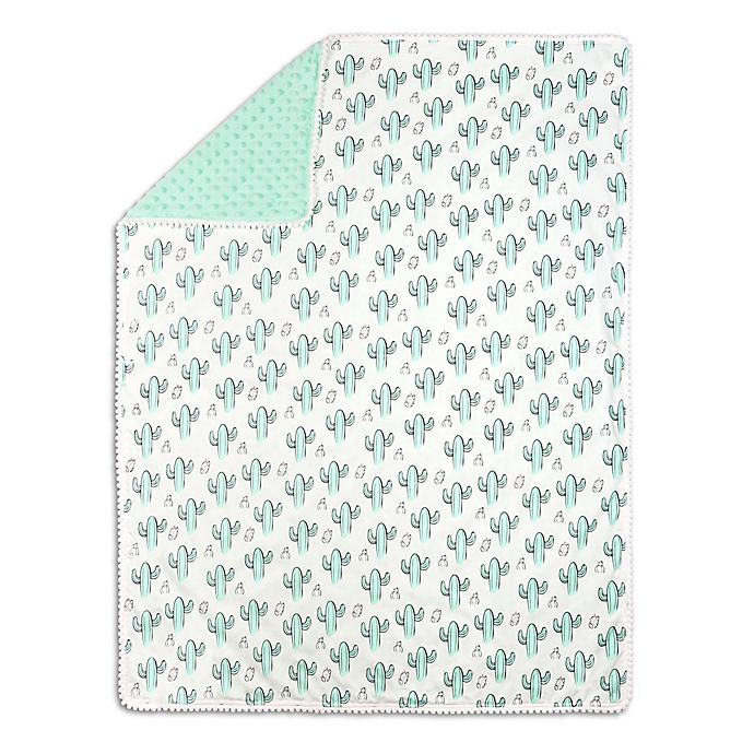 The Peanut Shell Cactus Minky Blanket In Mint Buybuy Baby