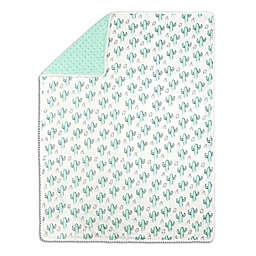 The Peanutshell™ Cactus Minky Blanket in Mint