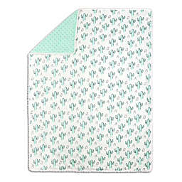 The Peanutshell™ Cactus Minky Blanket in Mint