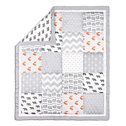 The Peanutshell™ Woodland Patchwork Quilt in Grey