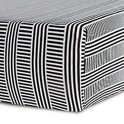 Oilo Studio™ Black and White Jersey Fitted Crib Sheet