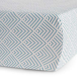 Oilo Studio™ Kia Jersey Fitted Crib Sheet in Aqua