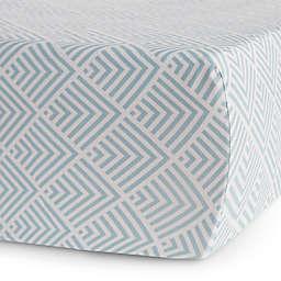 Oilo Studio™ Kia Jersey Fitted Crib Sheet in Aqua