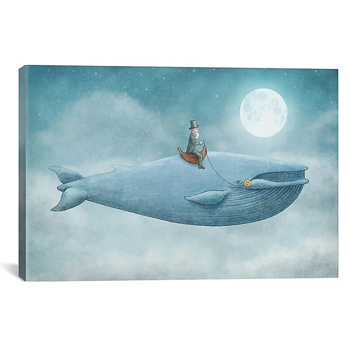 Alternate image 1 for iCanvas Whale Rider 12-Inch x 18-Inch Canvas Wall Art