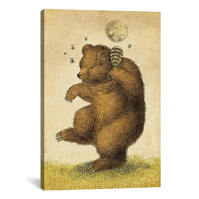 Alternate image 1 for iCanvas Honey Bear 26-Inch x 40-Inch Canvas Wall Art