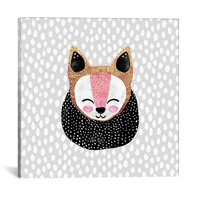 Alternate image 1 for iCanvas Arctic Fox 18-Inch Square Canvas Wall Art