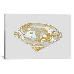 iCanvas Gold Diamond I Canvas Wall Art