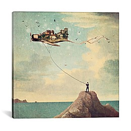 iCanvas Kite Day Square Canvas Wall Art