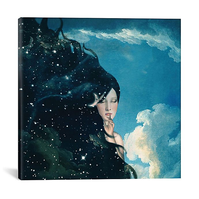 Alternate image 1 for iCanvas Lady Knight 18-Inch Square Canvas Wall Art