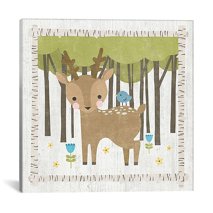 Alternate image 1 for iCanvas Deer 18-Inch x 18-Inch Canvas Wall Art