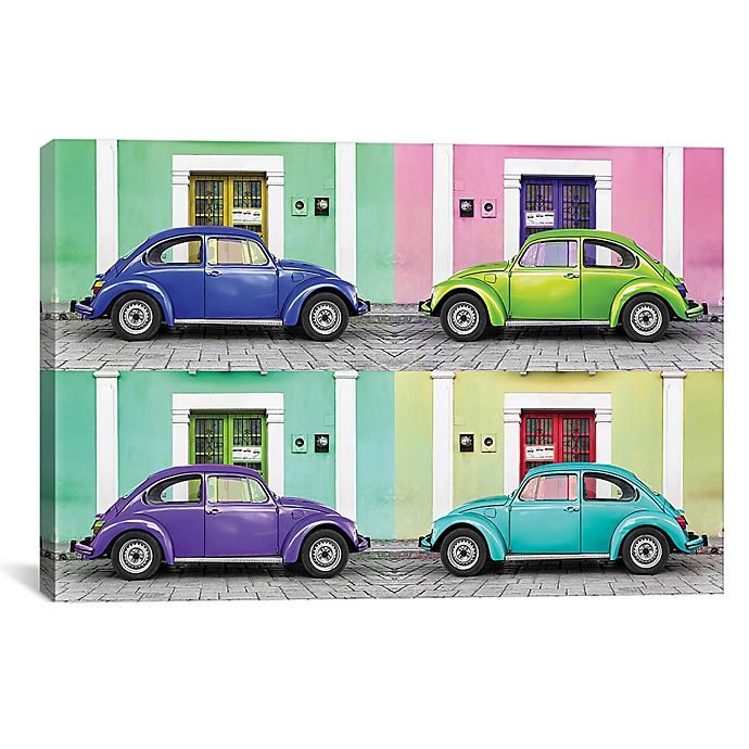 Alternate image 1 for iCanvas 4 VW Beetle Cars I 26-Inch x 40-Inch Canvas Wall Art