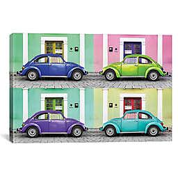 iCanvas 4 VW Beetle Cars I Canvas Wall Art