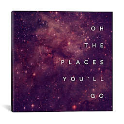 """iCanvas """"Oh the Places You'll Go"""" Square Canvas Wall Art"""