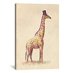 iCanvas Fashionable Giraffe Canvas Wall Art