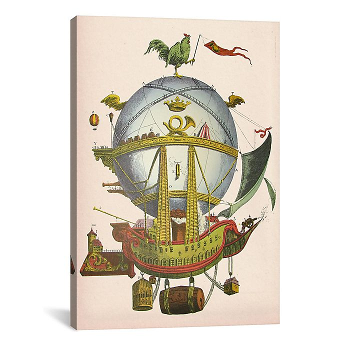 Alternate image 1 for iCanvas Minerve Hot Air Balloon 12-Inch x 18-Inch Canvas Wall Art
