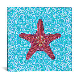 iCanvas Starfish Square Canvas Wall Art