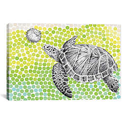 iCanvas Turtle and Fish Canvas Wall Art
