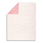 The Peanutshell™  Dot Pom Pom Blanket in Gold/Coral