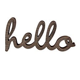 "Wendy Bellissimo™ ""hello"" Wood Wall Art"