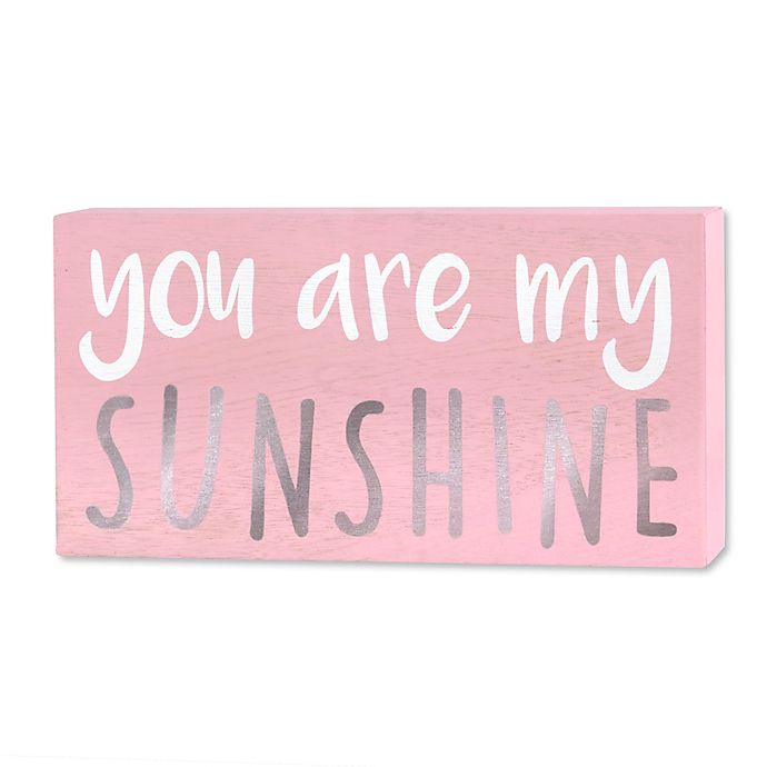 Wendy Bellissimo You Are My Sunshine Wood Wall Art