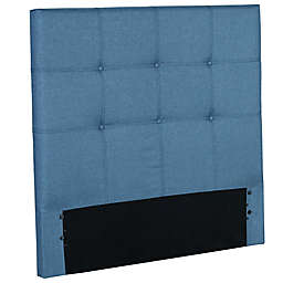 Fashion Bed Group Henley Denim Upholstered Kids Headboard in Dark Blue
