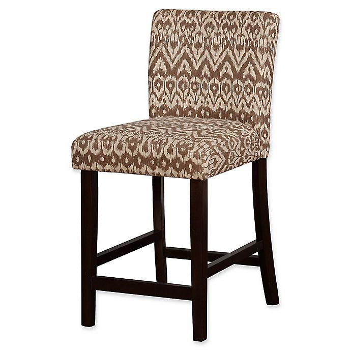 Alternate image 1 for Linon Home Miller Ikat Upholstered Counter Stool