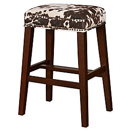 Linon Home Walt Cow Print Stool