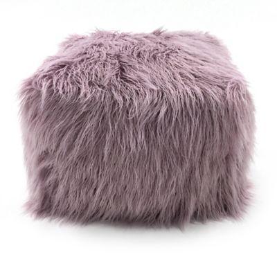 Lounge Amp Co Faux Fur Pouf Ottoman Bed Bath Amp Beyond