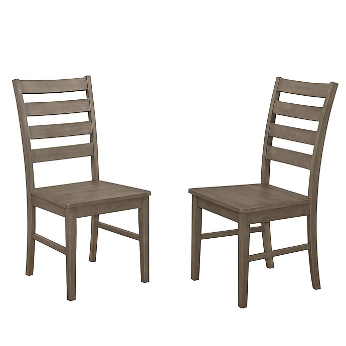 Alternate image 1 for Forest Gate Henderson ContemporaryWood Ladder Back Dining Chairs