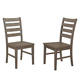 Forest Gate Henderson ContemporaryWood Ladder Back Dining Chairs