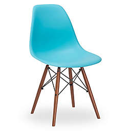 Poly and Bark Vortex Side Chair with Walnut Legs