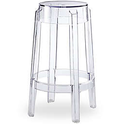 Poly and Bark Burton Counter Stool in Clear