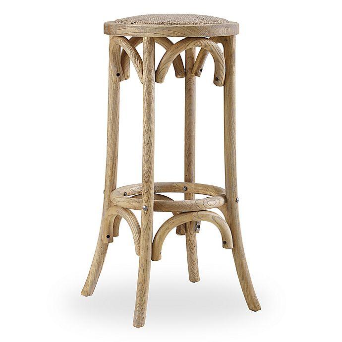 Outstanding Linon Home Rae Rattan Backless Stool Bed Bath Beyond Lamtechconsult Wood Chair Design Ideas Lamtechconsultcom